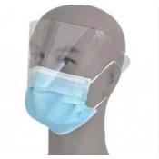 מסכה רפואית אף ופה ומגן לעיניים